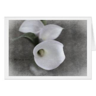Condolence Card with Callas
