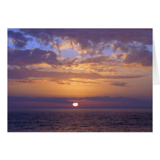 Condolence Sympathy Purple Sunset Card