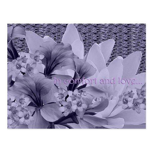 Condolences Bouquet Postcard