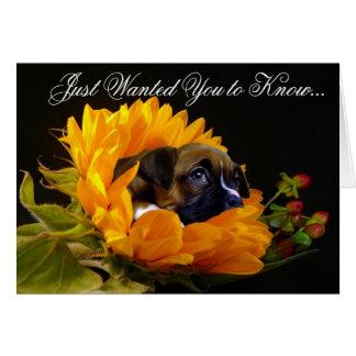 Condolences Boxer puppy greeting card