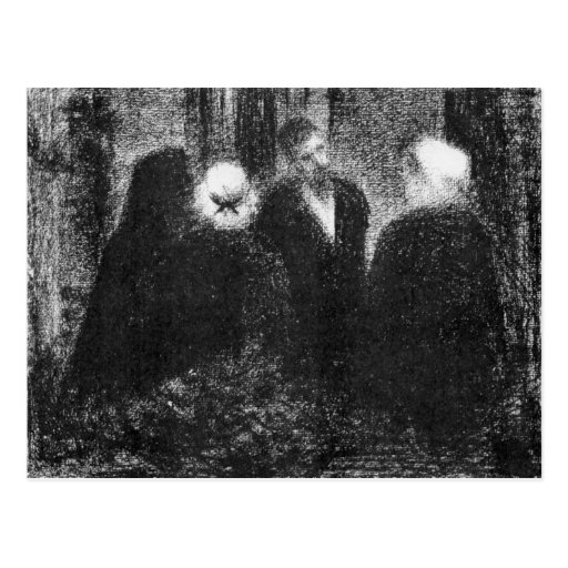 Condolences by Georges Seurat Post Cards