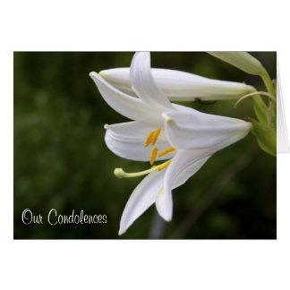 Condolences Floral Card