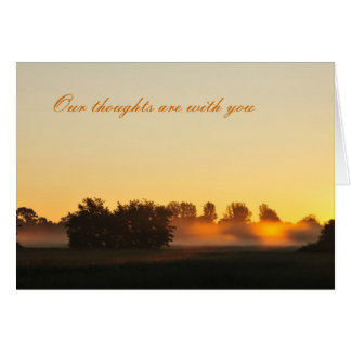 Condolences (sunrise and forest Card) Greeting Card