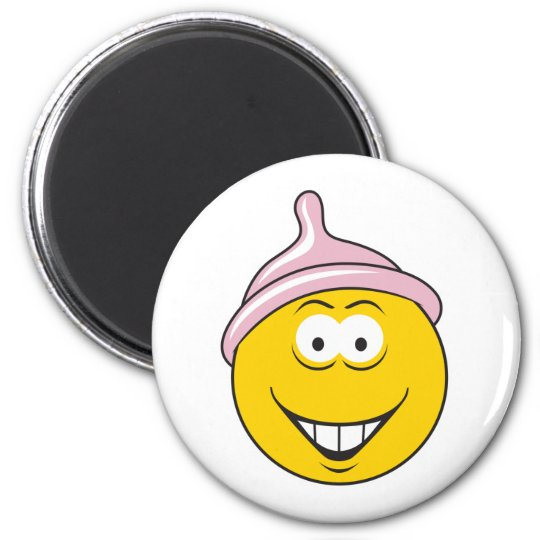 Condom Smiley Face Magnet