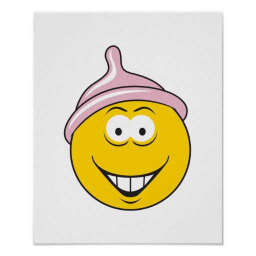 Condom Smiley Face Posters