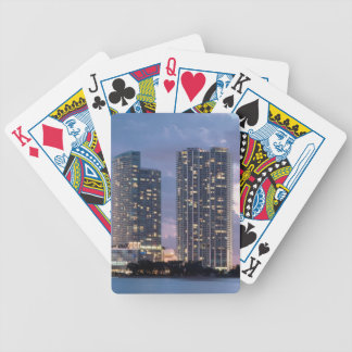 Condominium towers at the waterfront in Miami Bicycle Playing Cards