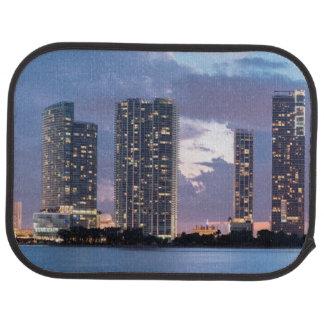 Condominium towers at the waterfront in Miami Car Mat