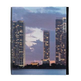 Condominium towers at the waterfront in Miami iPad Folio Cases