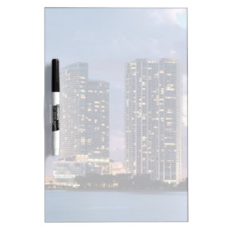 Condominium towers at the waterfront in Miami Dry Erase Board