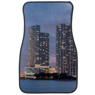 Condominium towers at the waterfront in Miami Floor Mat