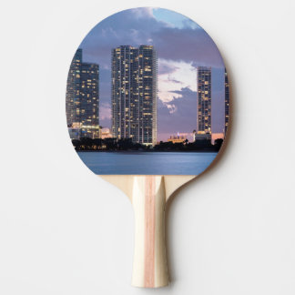 Condominium towers at the waterfront in Miami Ping Pong Paddle