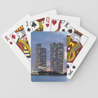 Condominium towers at the waterfront in Miami Playing Cards