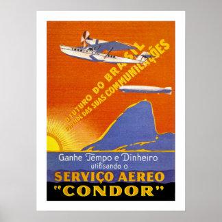 Condor ~ Brazillian Air Service Poster