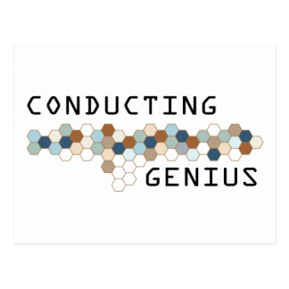 Conducting Genius Postcard