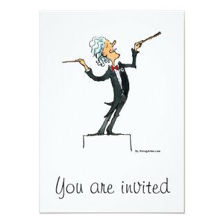 conductor 13 cm x 18 cm invitation card
