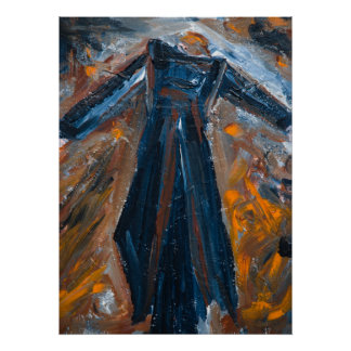 Conductor Abstract Expressionist Acrylic Poster