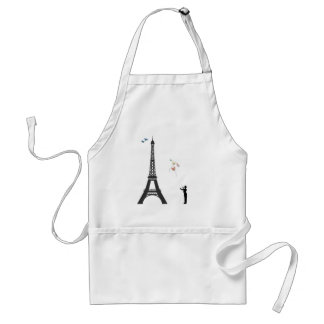 Conductor And Eiffel Tower Aprons