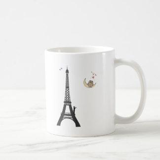 Conductor And Eiffel Tower Basic White Mug