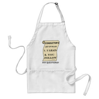 Conductor List Of Rules Apron