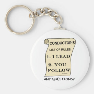 Conductor List Of Rules Key Ring