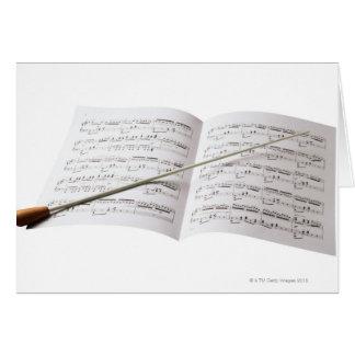 Conductor s Baton Greeting Card
