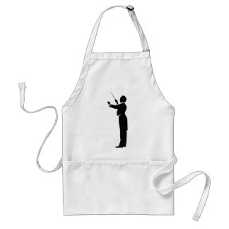 Conductor Silhouette Aprons