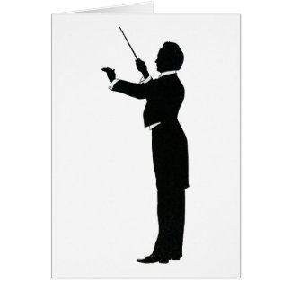 Conductor Silhouette Card