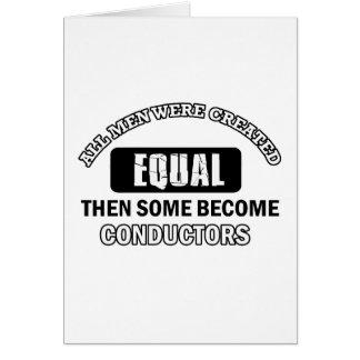 Conductors designs card