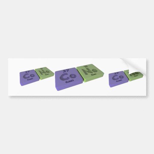 Cone as Co Cobalt and Ne Neon Bumper Sticker
