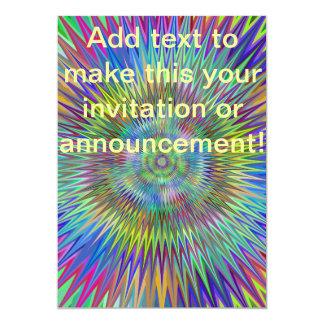 Cone Center Abstract Green 13 Cm X 18 Cm Invitation Card