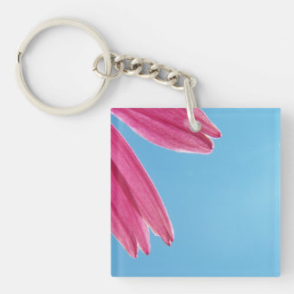 Cone Flower and Blue Sky Single-Sided Square Acrylic Key Ring