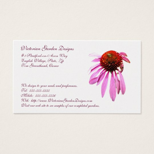Cone Flower Business Card