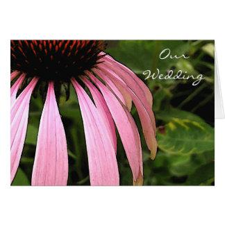 Cone Flower Invitation Greeting Card