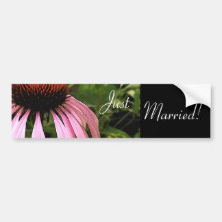 Cone Flower Wedding Bumper Sticker