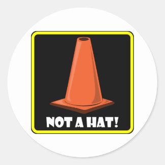 CONE HAT 1a Classic Round Sticker