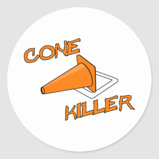 Cone Killer Classic Round Sticker