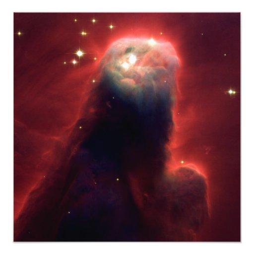 Cone Nebula (Hubble Telescope) Photo Art