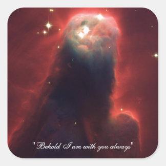 Cone nebula in space - Jesus Square Sticker