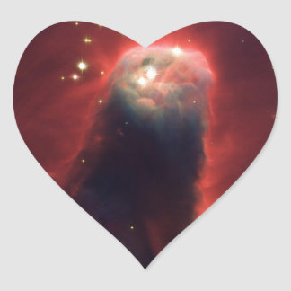 Cone nebula in space - Jesus Heart Sticker