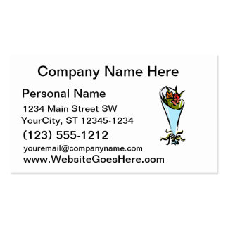 cone of flowers graphic love business cards