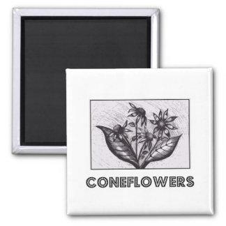 Coneflowers Fridge Magnet