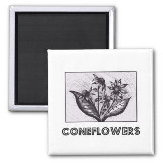 Coneflowers Square Magnet