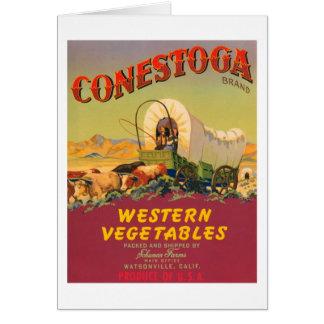 Conestoga Brand Western Vegetables Vintage Label Greeting Card