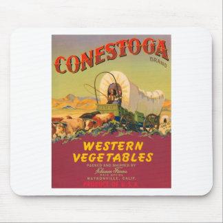 Conestoga Brand Western Vegetables Vintage Label Mouse Mats