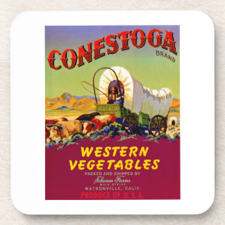 Conestoga Western Vegetables Beverage Coasters