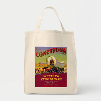 Conestoga Western Vegetables Grocery Tote Bag