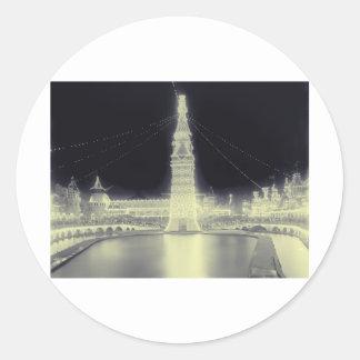 Coney Island Amusement Park Round Sticker