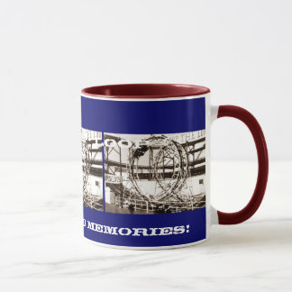 Coney Island Antique View Looping Roller Coaster Mug
