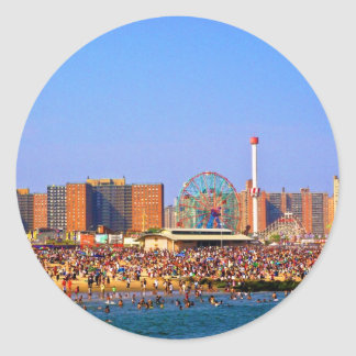 Coney Island beach - NYC sticker