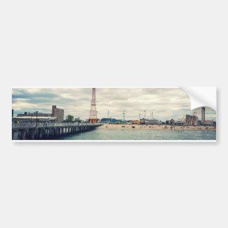 Coney Island Beach Panorama Bumper Sticker